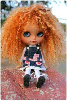 Image result for red hair custom blythe