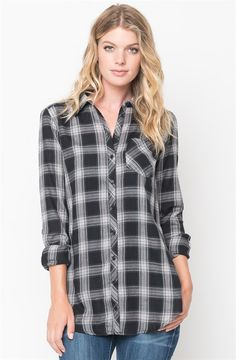 Oversized Plaid Button Down | Jane