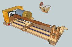 Картина настольный токарный станок 3 в 1 (токарный станок - шлифовальный станок - Гриндер/Точило)