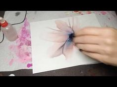 Blowing large petals with alcohol ink and airbrush - - Alcohol Ink Crafts, Alcohol Ink Painting, Alcohol Markers, Alcohol Ink Art, Rubbing Alcohol, Painting Techniques Canvas, Art Journal Techniques, Marker Crafts, Ink
