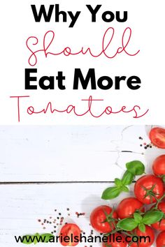Reasons why you should eat more tomatoes. There are many health benefit of eating tomatoes! Healthy Living Tips, Healthy Tips, Healthy Snacks, Healthy Detox, Healthy Recipes, Wellness Tips, Health And Wellness, Health Benefits Of Tomatoes