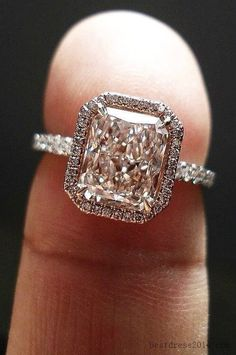 This is the ONE! Just a touch more square/cushion cut! // Gorgeous!