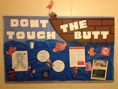 Don't touch the butt Disney finding nemo sexual assault awareness RA bulletin board