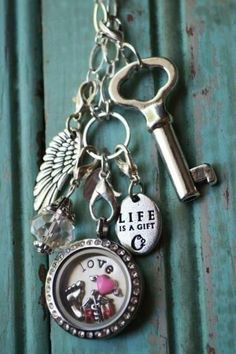Origami Owl...lockets, tags, charms, dangles -- you can do whatever you want because YOU design your own ;)  Call/text me 256-599-1130
