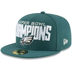 255c7536e1a Philadelphia Eagles New Era Super Bowl LII Champions 59FIFTY Fitted Hat -  Midnight Green  PhiladelphiaEagles