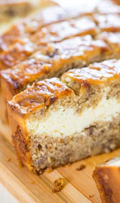 Cream Cheese-Filled Banana Bread Recipe