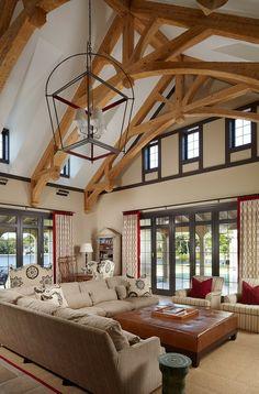 Intérieur rustique pour cette maison de vacances de luxe