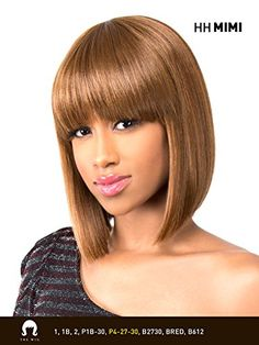 HHMIMI 1 Jet Black  THE WIG Brazilian Human Natural Hair Blend Wig -- More info could be found at the image url.