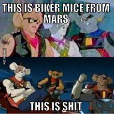 Real biker mice from mars
