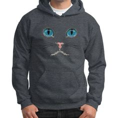 Cat Face Gildan Hoodie (on man) Shirt