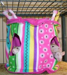 Inspiration - Hanging Rat Hammock, House, Bed, Tent With 2 Openings ($23.50) by AnimalLover2 on Etsy #rats