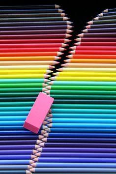Appreciation Week Rubber & coloured pencils zip, or if you're American: Eraser & colored pencils zipper! :-sRubber & coloured pencils zip, or if you're American: Eraser & colored pencils zipper!