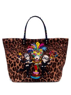 Dolce & Gabbana #DGFamily Embellished Leopard-Print Tote