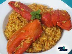 Arroz caldoso con bogavante olla GM Ana Sevilla Olla Gm G, Fish Dishes, Risotto, Food To Make, Rice, Pasta, Cooking, Ethnic Recipes, Ideas Para