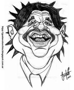 Boceto del cantante uruguayo Rubén Rada