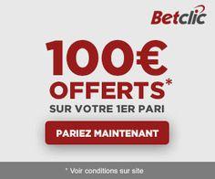 BetClic : le 1er pari sportif perdant remboursé jusqu'à 100 euros