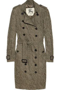 Lace-covered trench #burberry