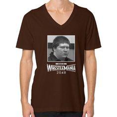 Brendan Dassey Wrestlemania Shirt Road to 2048 V-Neck (on man) Shirt