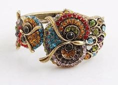 'Crystal Owl Antique Bangle Bracelet' is going up for auction at  7pm Tue, Apr 2 with a starting bid of $9.