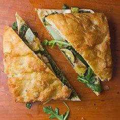 How to Make the Ultimate Veggie Sandwich - zuchinni, arugula, potato & pesto | Tasting Table Recipe