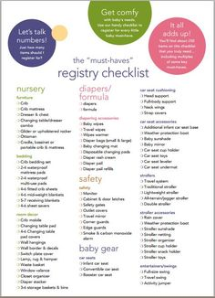 Best Baby Registry List + Free Printable Checklist | Discover More Ideas  About Baby Registry List, Baby Registry And Free Printable