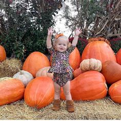 Cutest pumpkin in the patch in our Black Floral Peplum Set!