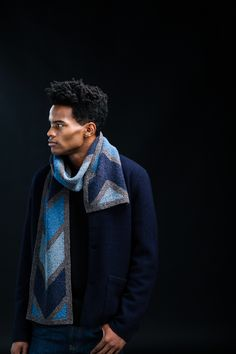 A new year, and a gorgeous new Brooklyn Tweed Collection! Brooklyn Tweed just launched their Winter 2018 collection, full of fascinating new textures and d Brooklyn Tweed, Truffle Hunting, Chevron Scarves, Knitted Shawls, Knitted Scarves, Plaid Blanket, Yarn Shop, Finger Weights, Garter Stitch