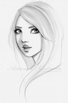 Beautiful Girl, drawing / Disegno bella ragazza - Artwork by Gabrielle (Art by gabbyd70 on deviantART)