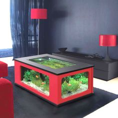 Cool Amazing 10 Living Room Design With Coffee Table Fish Tank Ideas Coffee table fish tank can be a big attraction for your living room and this can be a great way for you to enjoy time with your guests. You can sit wi. Fish Tank Table, Fish Tank Coffee Table, Fish Tank Stand, Cool Coffee Tables, Table Aquarium, Home Aquarium, Aquarium Design, Coffee Table Terrarium, Types Of Coffee Tables