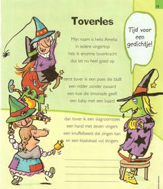 versjes heksen - Google zoeken Fairy Tale Crafts, Diy For Kids, Back To School, Fairy Tales, Witch, Projects To Try, Drama, Poetry, Monsters