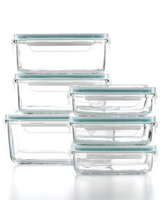 Martha Stewart Collection Food Storage Container Set, 12 Piece Glass - Kitchen Gadgets - Kitchen - Macy's Bridal and Wedding Registry