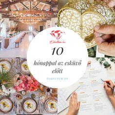 Esküvőszervezés lépései-10 hónappal az esküvő előtt: Elmerülsz a tennivalókban? Ha aggódsz, hogy valamit elfelejtettél, vagy elakadtál a szervezésben, lássuk, mik a legfontosabb teendőid 10 hónappal az esküvő előtt! Table Decorations, Wedding, Home Decor, Valentines Day Weddings, Decoration Home, Room Decor, Weddings, Home Interior Design, Marriage