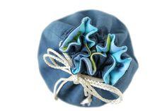 Denim & Light Blue Dots Flannel Toy Bag by HandiworkinGirls