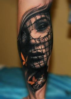 intertesting design http://activelifeessentials.com/body-canvas/ #bodyart #tattoos LOVE the eyes!