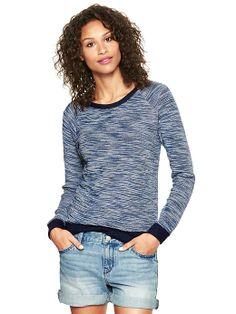 Gap | Reverse Terry Tweed Pullover