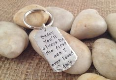 Father of the Bride Dog Tag Keychain  by KansasCityKreations