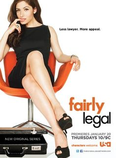 So glad I came across this show, Fairly Legal. It's kind of legal drama, but not quite (as she's a mediator and not a lawyer). It's got meaningful cases, lots of humor, and overall it's entertaining. Sarah Shahi as Kate Reed is incredibly fun to watch! :D