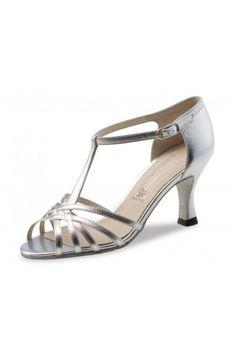 Chaussure de danse argent salomé