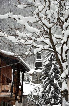 Morzine in the snow