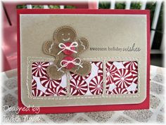 Papertrey Ink Products - Holiday Button Bits - Created by Judith Novak Stampin Up Christmas, Christmas Cards, Christmas Ideas, Winter Cards, Cute Cards, I Card, Gingerbread, Birthday Cards, Buttons