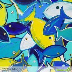 Vissen tekenen en schilderen - Hobby.blogo.nl