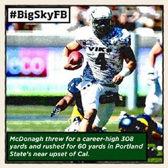Sept. 9 - Portland State's Kieran McDonagh is your ROOT SPORTS #BigSkyFB Offensive Player of the Week! #GoViks