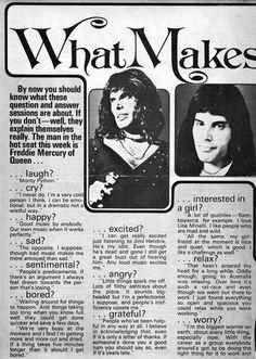 freddie mercury quotes Freddie Mercury Q&A part 1 Freddie Mercury Interview, Freddie Mercury Quotes, Queen Freddie Mercury, Eric Clapton, Les Paul, Freedy Mercury, Pop Up, Rap, We Are The Champions