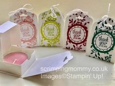 scrimpingmommy: In colour festival day 5 boxed tea light and holder....