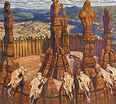 Roerich Paintings | artist nicholas roerich completion date 1910 style art nouveau modern ...