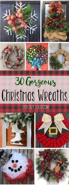These Christmas wreaths are so beautiful and creative... I want them all!!!