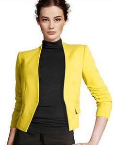 Femme Mode Neuf Manche 3/4 Veste Tailleur Blazer Petit Costume Sans Bouton