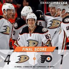 Back to their winning ways! Ducks come out of Philly with a 4-1 victory. #LetsGoDucks