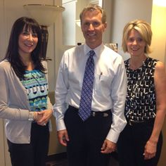 Dr Lee with his office manager Leslie and Alisha Rose Merlo, Professional Relations Manager at  Medicis #cosmetic #plastic #surgery #rhinoplasty #facelift #facial #beauty #surgeons #lake #oswego #portland #oregon #tricities #washington @DrLeeRobinson