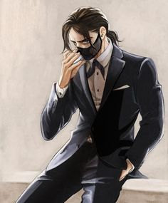 The Winter Soldier in a tuxedo.................